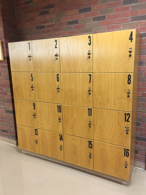 photo of library lockers