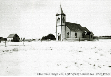 Image of Fort Albany church